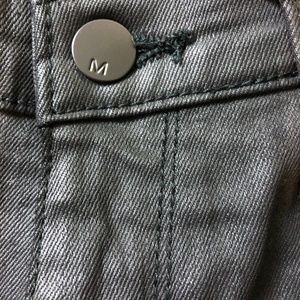 Mossimo Jeans - Mossimo Coated midrise jeggings, like new